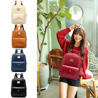 Women Leather Backpack Alma Mater Shoulder Book Bag Travel Handbag Rucksack Satchel