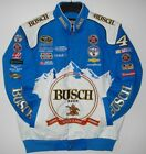 2018 Kevin Harvick JH Design Busch Full-Snap Twill Uniform Jacket  Navy Blue