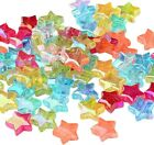 ❤ 50 X Acrylic Star Spacer Beads Ab Colour 10mm Jewellery Making Uk Stock ❤
