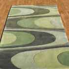 GREEN RUG THICK HARLEQUIN CURLY DESIGN CLEARANCE RUG BEST QUALITY CHEAP COST RUG