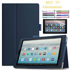 Amazon Fire HD 10 Leather Case For 2017 7th Generation with Screen Protector US