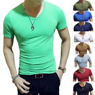 Mens Fashion Solid Loose T Shirts Casual O-Neck Short Sleeve Breathable T-shirts