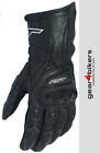 RST R-18 Semi Sport Black Leather Glove Motorcycle Scooter Motorbike Gloves R18