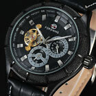 Vintage Calendar Dial FORSINING Brand New Automatic Mechanical Mens Watch RS8357