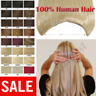 US STOCK HIDDEN CROWN INVISIBLE WIRE LINE WEFT REMY HUMAN HAIR EXTENSIONS P147
