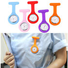 black fob watch - Silicone Nurse Watch Brooch Tunic Fob Watch With Free Battery Doctor Medical HOT