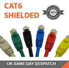 CAT6 RJ45 Network Cable LSZH FTP Shielded Patch Cables Choose Any Length/Colour