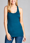 Womens Tank Top Cotton Light Weight Casual Basic Workout RACER BACK Yoga Gym(S-L