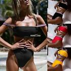 Women Strap Bandeau Bikini Set Two Piece Swimwear High Waist Bottom RR6