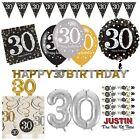 30th Gold Celebration Birthday Party Supplies Balloons Tableware & Decorations