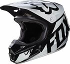 FOX RACING V1 WHITE BLACK RACE HELMET 17343-001 MX ATV BMX