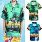 Mens Hawaiian Casual Shirts Short Sleeve Tropical Palm Summer Fancy Beach Shirts