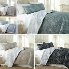 Ultra-Soft Lightweight Reversible Floral Patterned 3-Piece Quilt Set  image