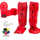 New! Red Tokaido Karate WKF Competition Sparring Gear Set