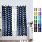 Lattice Design 52 x 84-Inch Window Drapes Curtains 2 Panels with Grommet Top