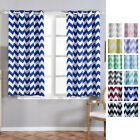 Chevron Blackout 52 x 64-Inch Window Drapes Curtains 2 Panels with Grommet Top