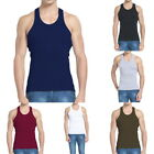 Summer Mens T-Shirts Cotton Slim Tops Mens Tank Tops Bodybuilding Fitness Shirts