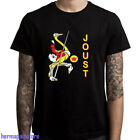 New Joust Retro Video Game Men's Black T-Shirt Size S to 3XL