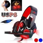 3.5mm Gaming Headset Surround Stereo Headband Headphone USB LED with Mic for PC