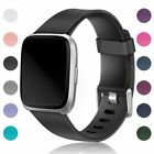 Classic Design Soft Silicone Sport Strap Replacement Wristband for Fitbit Versa image