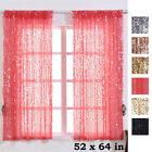 Big Payette Sequin 52 x 64-Inch Window Drapes Curtains 2 Panels Home Decor SALE