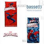 Bassetti Completo Copripiumino Spiderman Marvel Singolo - Blue - Red