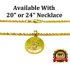 "18k Yellow Gold Link 20"" 24"" 30"" Chain Womens Mens Necklace St. Christopher Pend"