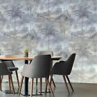 Внешний вид - Wallpaper platinum Gray Modern Silver metallic Plain Textured Wall coverings