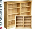 Solid Wood Bookcase, 4ft x 5ft Adjustable Display Shelving Unit, Bookshelves