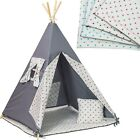 Wigwam teepee tent, Kids, play, outdoor, indoor, bedroom, mat, pillow,4 elements