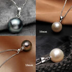 925 Natural White pink Silver Black Pearl Pendant Necklace Fashion Jewelry image