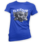Flat 4 Engine Flat Four Womens T-Shirt -x14 Colours- Gift Present Camper Bug Bus