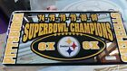 Pittsburgh Steelers NFL Football 6X Super Bowl Champs License Plate Car Tag on eBay