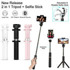 bluetooth iphone remote control - New Bluetooth Selfie Stick Tripod Monopod Remote Control 360° Clamp iOS Android