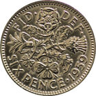 Sixpence : 1953-1967 Elizabeth II : Lucky Birthday Wedding 6d Coin : Choose Year