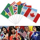 20Pcs National Flag 2018 Russia World Cup Country Team Hand Held Waving Flags US