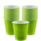20 Plastic Solid Colour Cups Wedding Birthday Tableware Party Supplies Colours