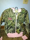 Personalized Baby Girls Pink Trim Camouflage Sweat Jacket Toddler