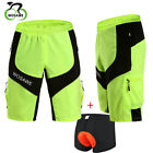 Mens Mountain Bike Baggy Shorts Summer MTB Fitted Padded Undershorts Sports Wear