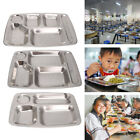 Внешний вид - Stainless Steel Divided Dinner Tray Lunch Container Food Plate 4/5/6 Section