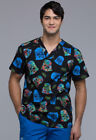 Men's Tooniforms Disney Star Wars Scrub Top Darth Vader On Holiday TF676 SROH $29.99 USD on eBay