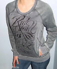 New FOX RACING RIDERS Gray Pullover FRONT POCKET Sweatshirt Small
