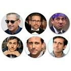 "Steve Carell 1.25"" Pinback Buttons or Fridge Magnets 1.25"" Set Of 6 Different"