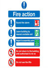 Fire Safety Poster A1 A2 A3 A4 Regulations Health And Safety HSE COSHH PPE Alarm