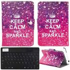 "Universal Printed Leather Cover Case with Bluetooth Keyboard For 8"" Inch Tablet"