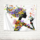 Butterflies Beauty Girl Tapestry Wall Hanging for Living Room Bedroom Dorm Decor