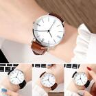 New Unisex Fashion Synthetic Leather Band Round Analog Quartz Wrist Watch RR6