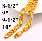 "18k Yellow Gold Mens Cuban Box Link Chain Bracelet All Sizes 7"" 8"" 9"" 10"" Inch"