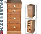 Traditional A4, Solid Pine Split 2 + 2 Drawer Suspension Wooden Filing Cabinet