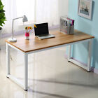PC Computer Desk Corner Wooden Desktop Table Office Workstation Modern Steel Leg